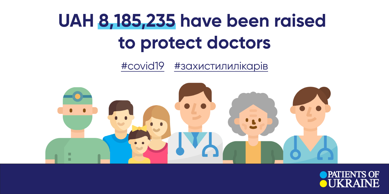 """More than 8 million hryvnias have been raised to protect doctors from the coronavirus — CF """"Patients of Ukraine"""""""